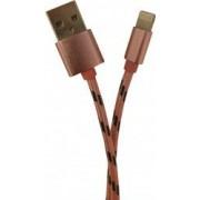 Cablu Lightning Pentru Incarcare si Transfer Date Compatibil Cu Telefoane Tablete Device-uri Apple iPhone iPad iPod Roz