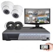 Kit vidéosurveillance 2 dômes CMOS 600 lignes