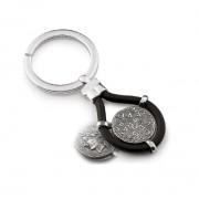 Gerardo Sacco portachiavi Mito Maschere e Monete in argento 33266