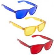 Phenomenal Wayfarer Sunglasses(Blue, Red, Yellow)