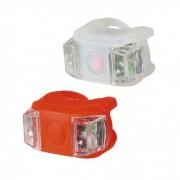 Prednje i zadnje silikonsko svetlo za bicikl sa LED diodama BV 11 (crvena/bela)