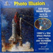 Photo Illusion....1000s of Tiny Space Photos Joined to Make Incredible Picture of the Shuttle Launch