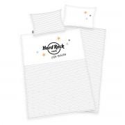 Lenjerie de pat copii, din bumbac, Hard RockCafé, 100 x 135 cm, 40 x 60 cm