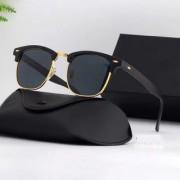 Davidson Black and Gold Clubmaster Sunglass