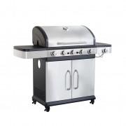 Milani Home VULCAN - Barbecue a gas in acciaio inox 5 fuochi + 1 fuoco laterale