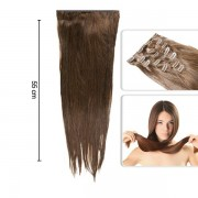 Extensii Deluxe Tape-On Par Natural Saten Inchis