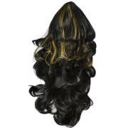 GaDinStylo Hair Extensions And Wigs Brown Clutcher Ponytail Tie Up Curly Hair Extension