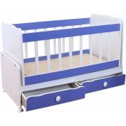 Бебешко легло без чекмеджета Мебели Богдан NAD320BM, цвят син