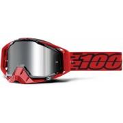 100% Racecraft Plus Toro Óculos de motocross Preto Vermelho único tamanho