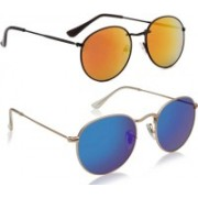 Phenomenal Oval Sunglasses(Multicolor)
