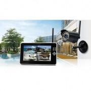 Technaxx Kit Caméra de Surveillance Sans Fil avec Enregistrement + Moniteur
