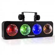 Beamz DJ Bank BX LED-Lichteffekt 4 x RGBA-LED Fernbedienung schwarz