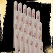 Bax 24 buc Lumanari Nunta Botez H 40 cm si D 4 5 cm