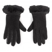 Дамски ръкавици UGG - W Fabric Lthr Shorty Glove 18813 Black