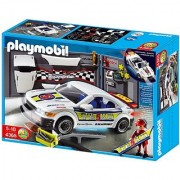 Playmobil Tuning Workshop And Car With Lights