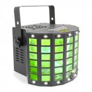 Beamz Radical 2 Efecto 3 en 1 4xLEDs RGBW de 3W Láser rojo/verde 4 canales DMX (Sky-153.711)