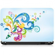 VI Collections Creative Flowers Printed Vinyl Laptop Decal 15.5