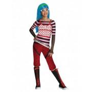 Vegaoo Kostüm Ghoulia Yelps Monster High für Mädchen - schlaaaauurrrig!