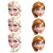 Frozen-Die-cut masks , Kids Party Supplies , Disney Frozen Theme Birthday Party ,Elsa Anna Frozen Masks (Pack of 6)