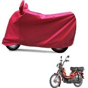 Intenzo Premium Full Red Two Wheeler Cover for TVS Heavy Duty Super XL