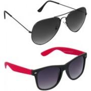 Redleaf Aviator, Wayfarer Sunglasses(Grey)