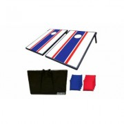 Sports Festival Cornhole Bean Bag Toss Game and Tic Tac Toe 2-in-1 Set French Style