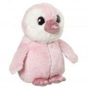 Nature Plush Planet Speelgoed dieren pinguin knuffel roze 18 cm