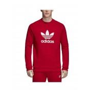 Adidas Sudadera Adidas Trefoil Rojo Hombre - M