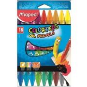 Creioane cerate 12 culori pe baza de ulei Maped