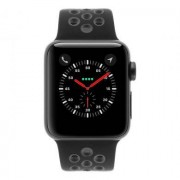 Apple Watch Series 2 Aluminiumgehäuse dunkelgrau 38mm mit Nike+ Sportarmband schwarz/grau aluminium dunkelgrau