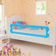 vidaXL Barra de segurança p/ cama infantil 120x42cm poliéster azul