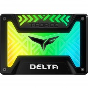 Unidad de Estado Solido SSD 500GB TEAMGROUP T-FORCE Delta RGB Sata 2.5 Negro T253TR500G3C313