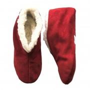 Bernardino Warme wollen rode Spaanse sloffen/pantoffels voor dames/heren/volwassenen