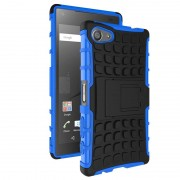 Capa Híbrida Anti-Deslizante para Sony Xperia Z5 Compact - Preto / Azul
