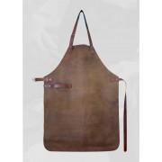 Ръчно изработена кожена престилка Yaco & Co - кафяв цвят