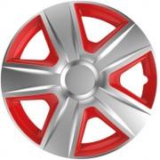 Capace roti ESPRIT silver&red 16 inch, set 4 bucati
