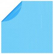vidaXL Solar zwembadfolie drijvend rond 381 cm PE blauw