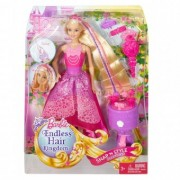 Papusa Barbie Endless Hair Kingdom-Regatul parului DKB62