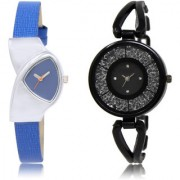 The Shopoholic Blue Black Combo New Stylist Latest Blue And Black Dial Analog Watch For Girls Girl Watches Stylish