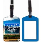 Nutcaseshop ADVENTURE AWAITS Luggage Tag(Multicolor)