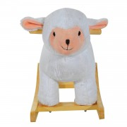 HOMCOM Kids Plush Ride On?Sheep-White