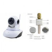 Mirza Wifi CCTV Camera and Q7 Microphone Karake With Bluetooth Speaker for SAMSUNG GALAXY MEGA 2(Wifi CCTV Camera with night vision |Q7 Microphone Karake With Bluetooth Speaker)