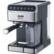 Espressor manual Zass ZEM 10 1.8 L 1350 W 16 bar Lapte 0.5 L Panou Touch Inox