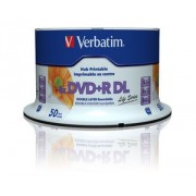 DVD+R Verbatim DL 8X 8.5GB 50PK SPINDLE PRINTABLE (97693)
