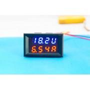 Voltmeter + Ampermeter kombinovaný 0 do 30V 10A