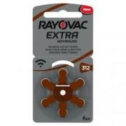 Baterii Pentru Proteze Auditive RAYOVAC 312 PR 41 Zinc-Aer 6 Baterii / Set