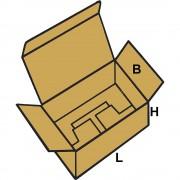 Faltkartons KOMFORT, FEFCO 0215 aus 1-welliger Pappe Innenmaße 297 x 210 x 400 mm, VE 50 Stk