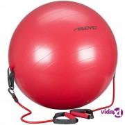 Avento lopta za vježbanje s trakama za otpor 65 cm crvena 41TO-ROG-65
