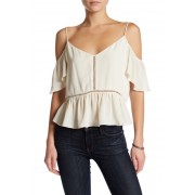 Melrose and Market Butterfly Sleeve Cold Shoulder Blouse IVORY