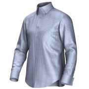Maatoverhemd blauw/wit 53315